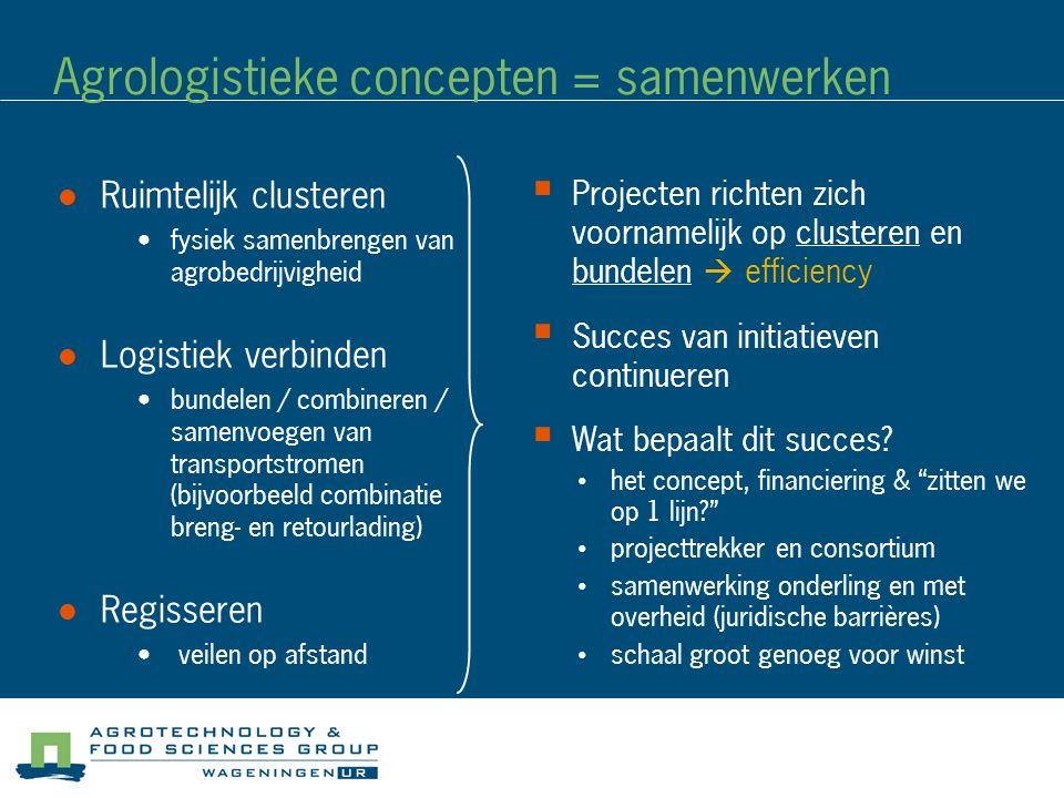 Agrologistieke concepten = samenwerken