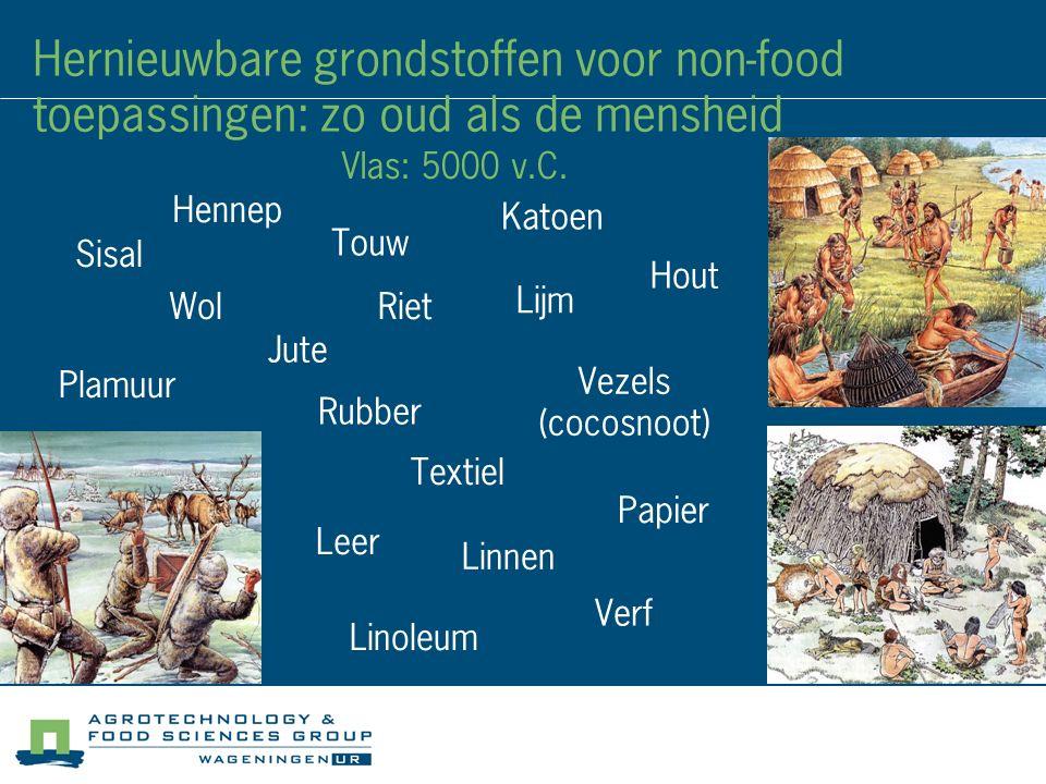 Hernieuwbare grondstoffen voor non-food toepassingen: zo oud als de mensheid