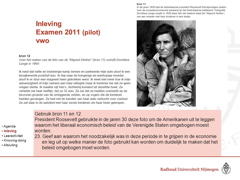 Inleving Examen 2011 (pilot) vwo