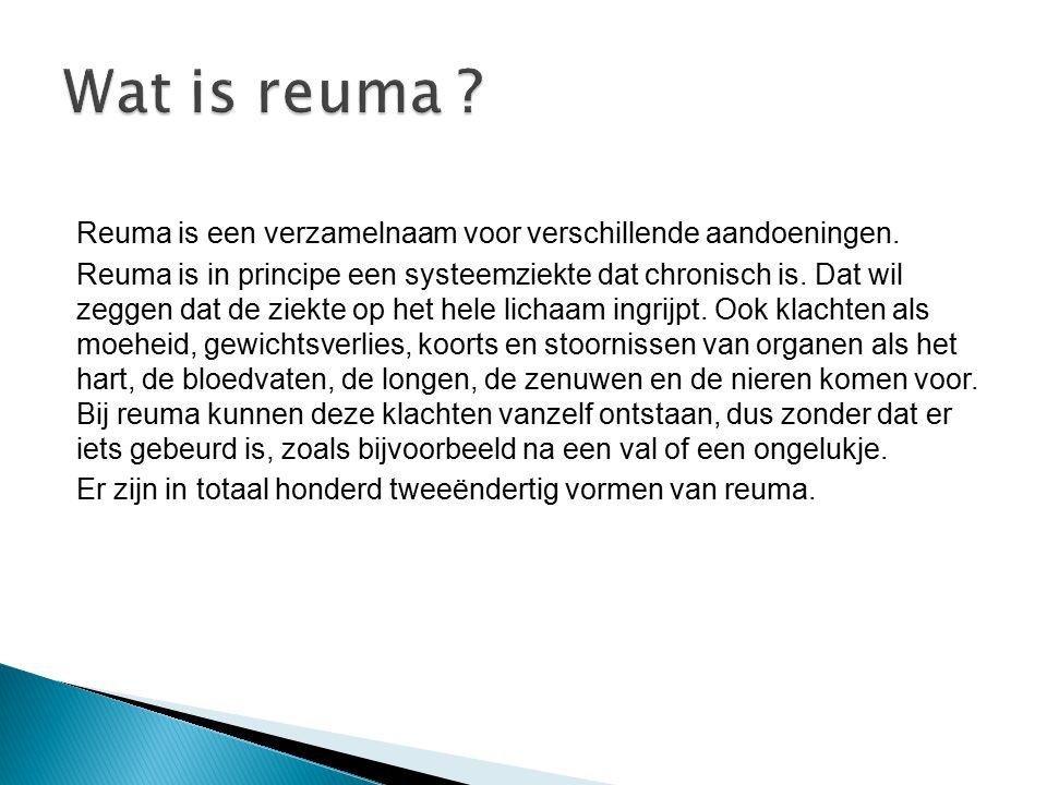 Wat is reuma