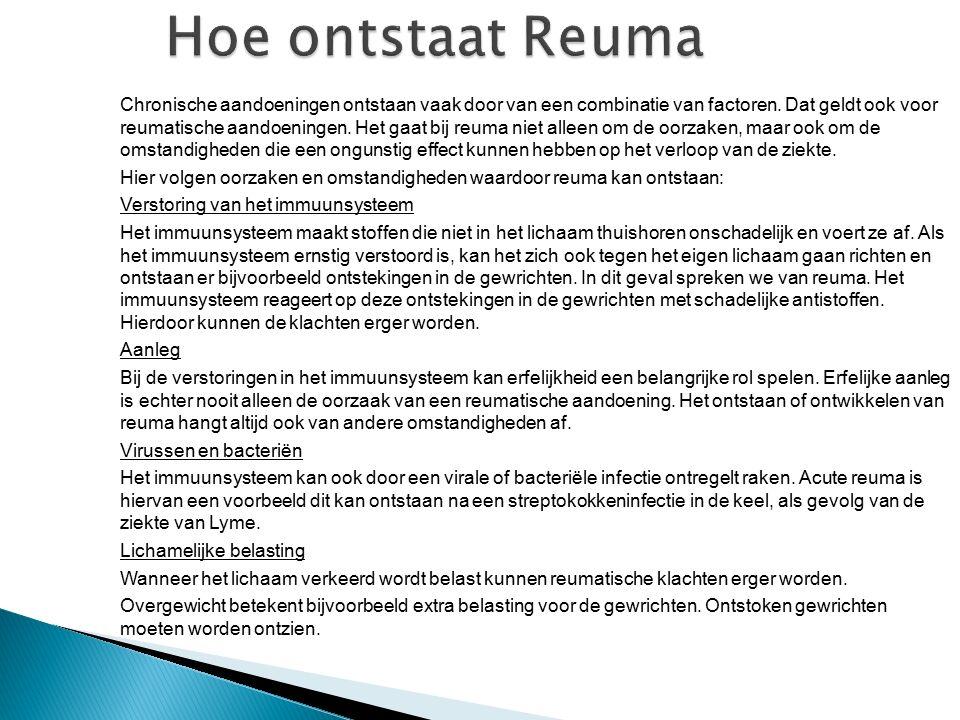 Hoe ontstaat Reuma
