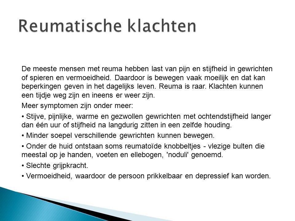 Reumatische klachten