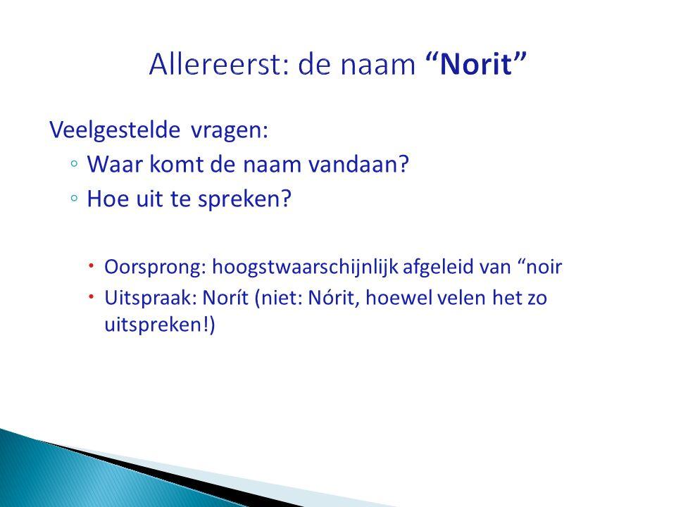 Allereerst: de naam Norit