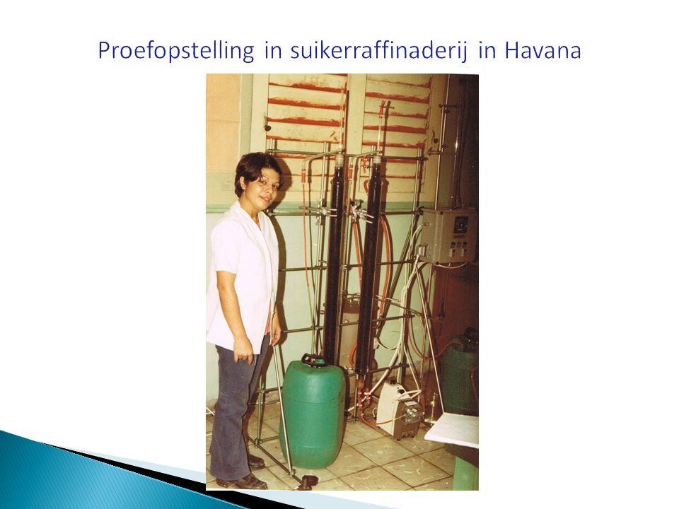 Proefopstelling in suikerraffinaderij in Havana