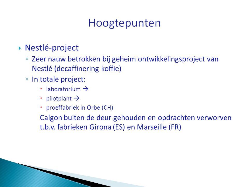 Hoogtepunten Nestlé-project