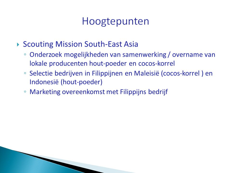 Hoogtepunten Scouting Mission South-East Asia