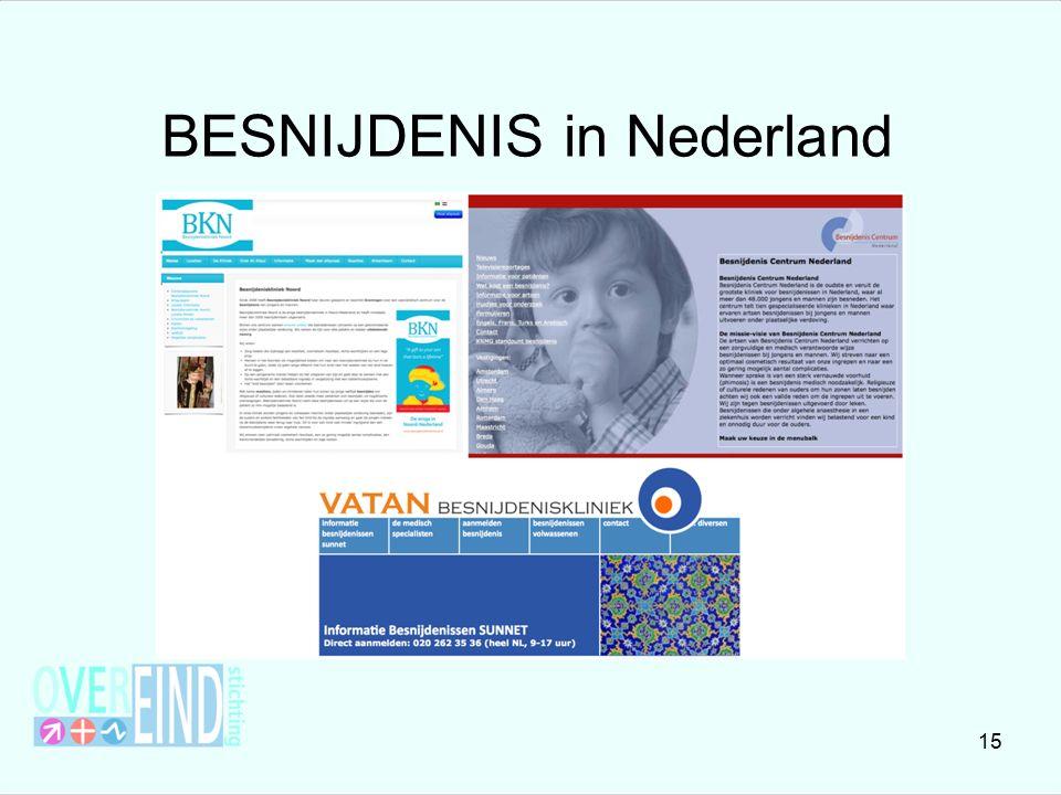 BESNIJDENIS in Nederland