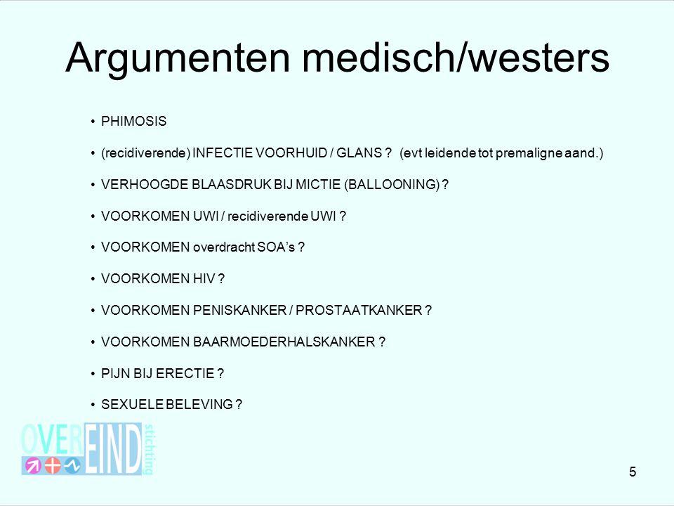 Argumenten medisch/westers