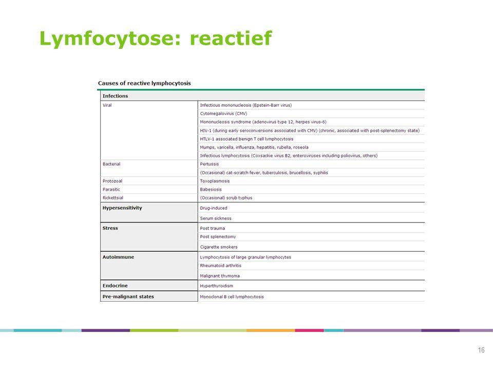 Lymfocytose: reactief