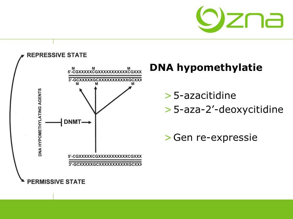 Behandeling met 5-azacitidine (Vidaza)