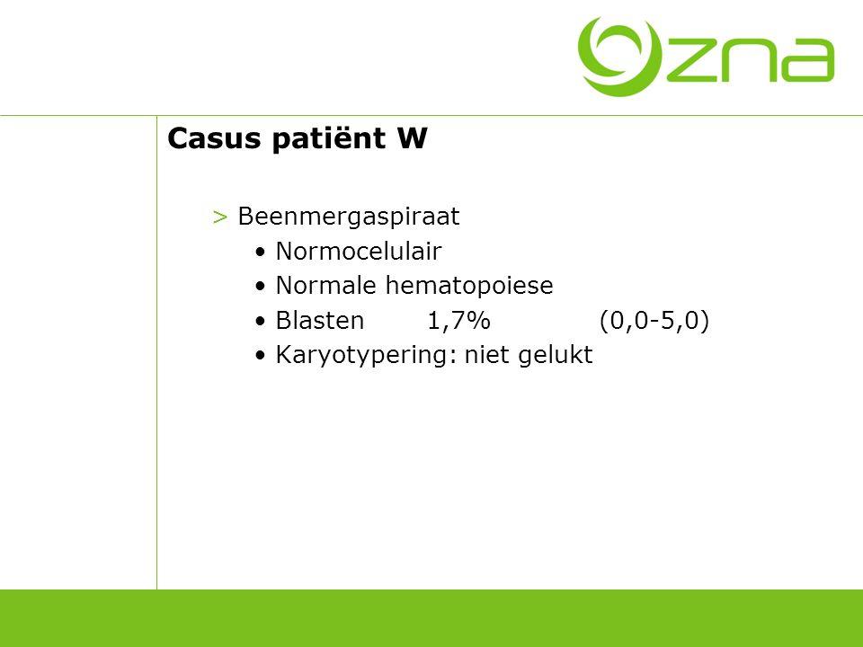 Botbiopsie patiënt W