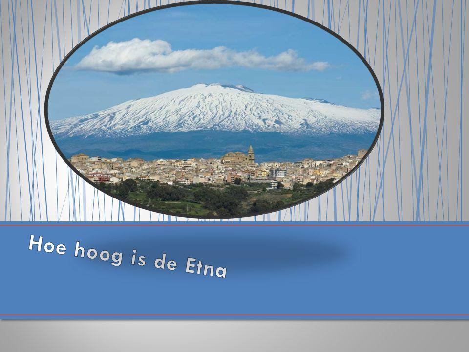 Hoe hoog is de Etna