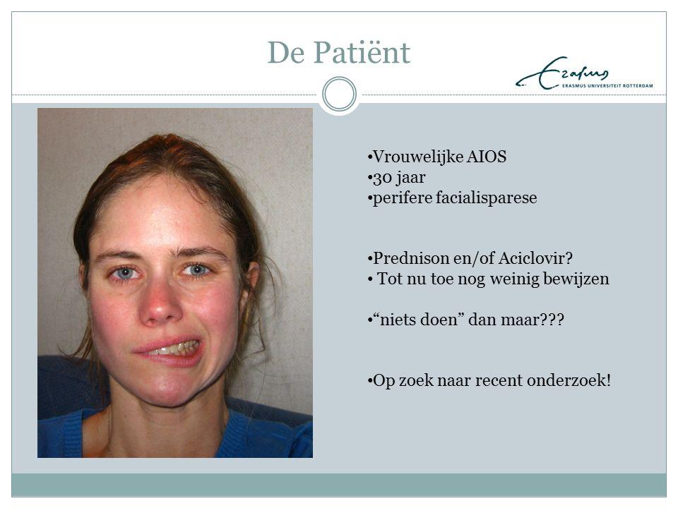 De Patiënt Vrouwelijke AIOS 30 jaar perifere facialisparese