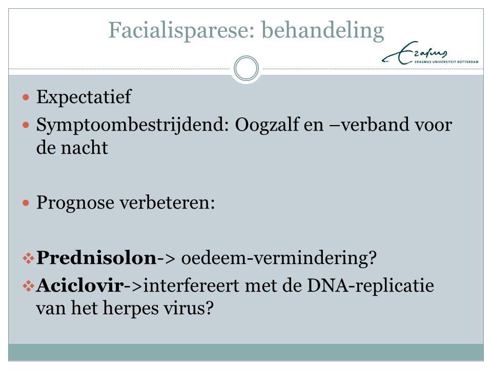 Facialisparese: behandeling