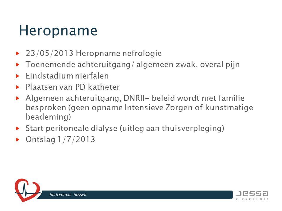 Heropname 23/05/2013 Heropname nefrologie