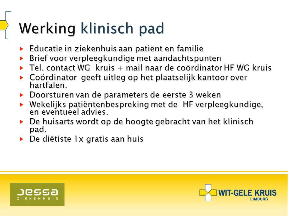 Werking klinisch pad Educatie in ziekenhuis aan patiënt en familie