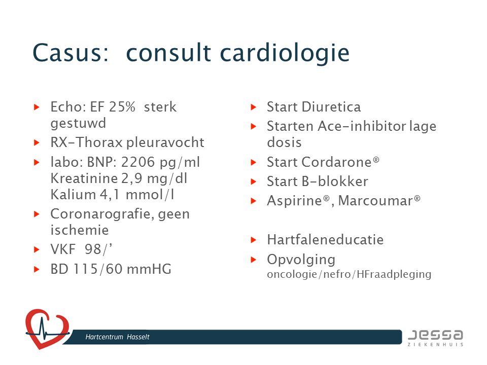 Casus: consult cardiologie