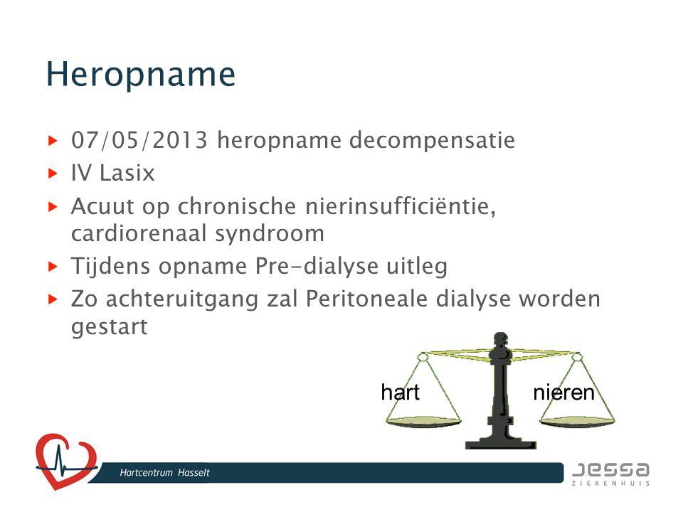 Heropname 07/05/2013 heropname decompensatie IV Lasix