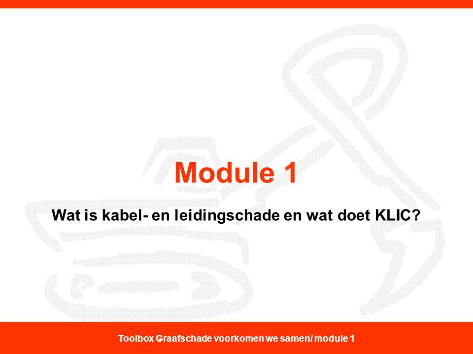 Module 1 Wat is kabel- en leidingschade en wat doet KLIC