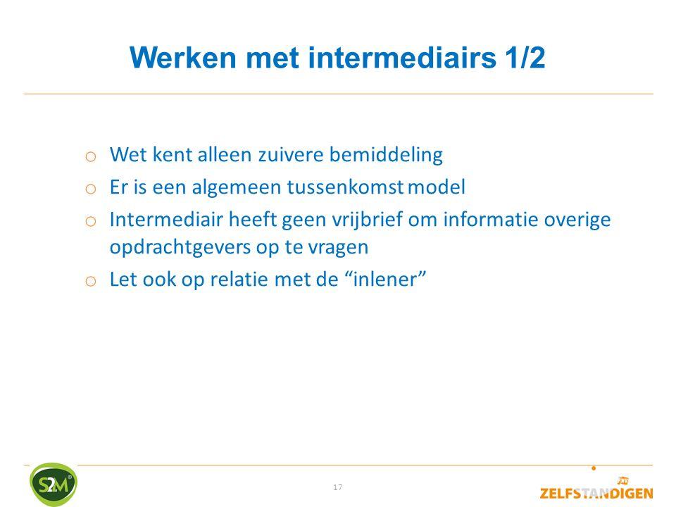 Werken met intermediairs 1/2