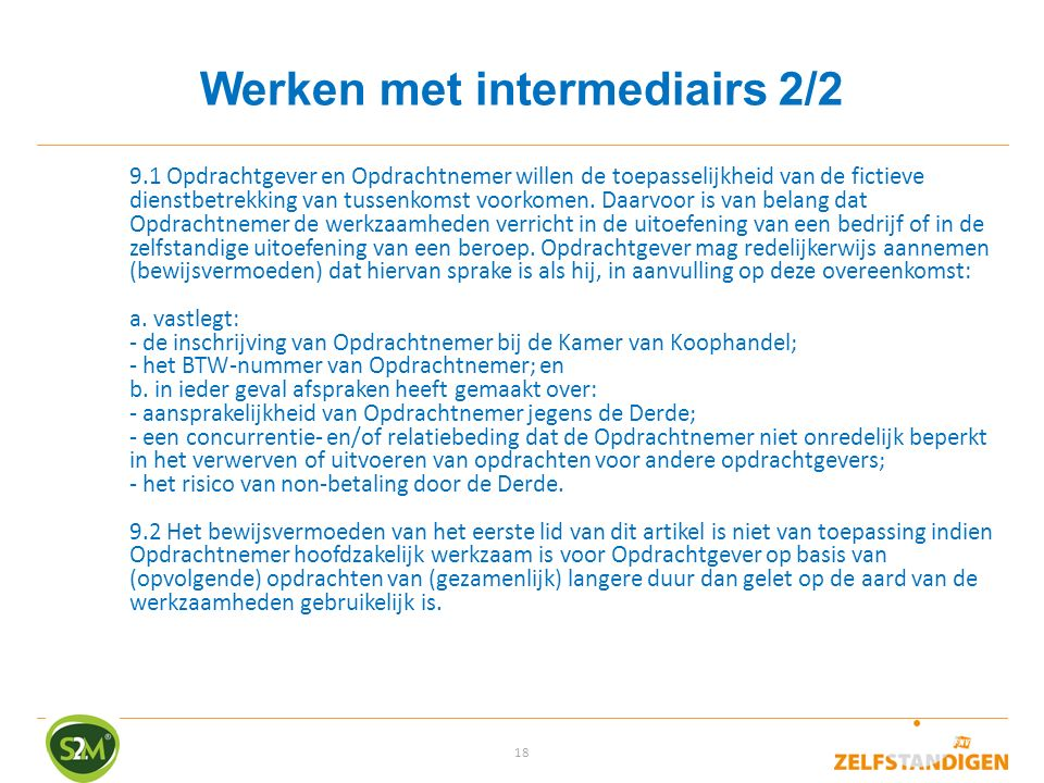Werken met intermediairs 2/2