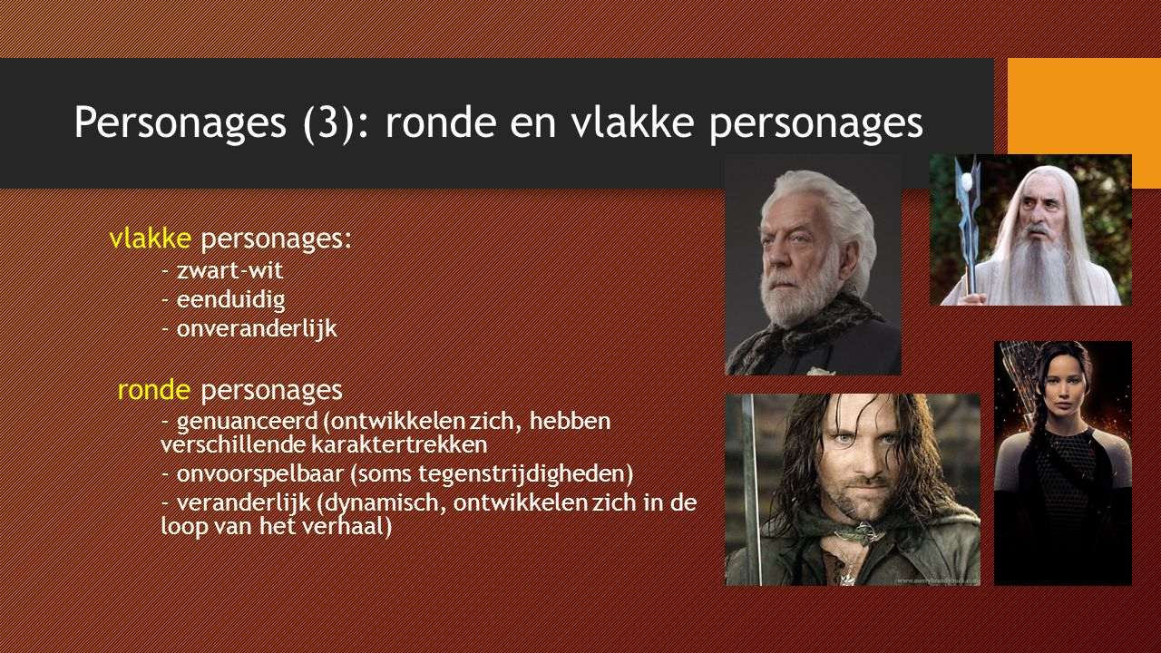 Personages (3): ronde en vlakke personages