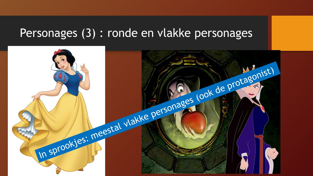 Personages (3) : ronde en vlakke personages