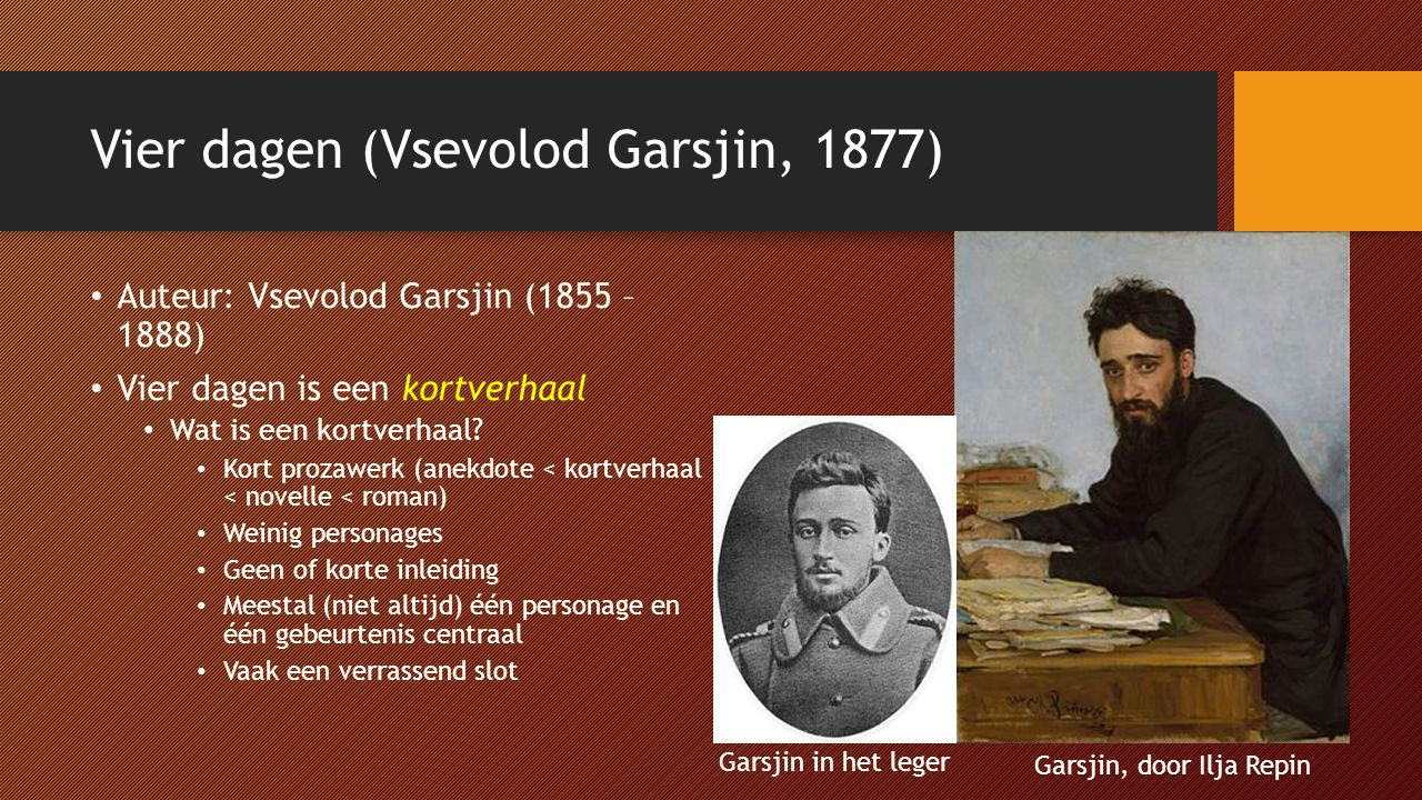 Vier dagen (Vsevolod Garsjin, 1877)