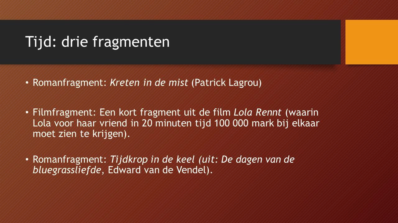 Tijd: drie fragmenten Romanfragment: Kreten in de mist (Patrick Lagrou)