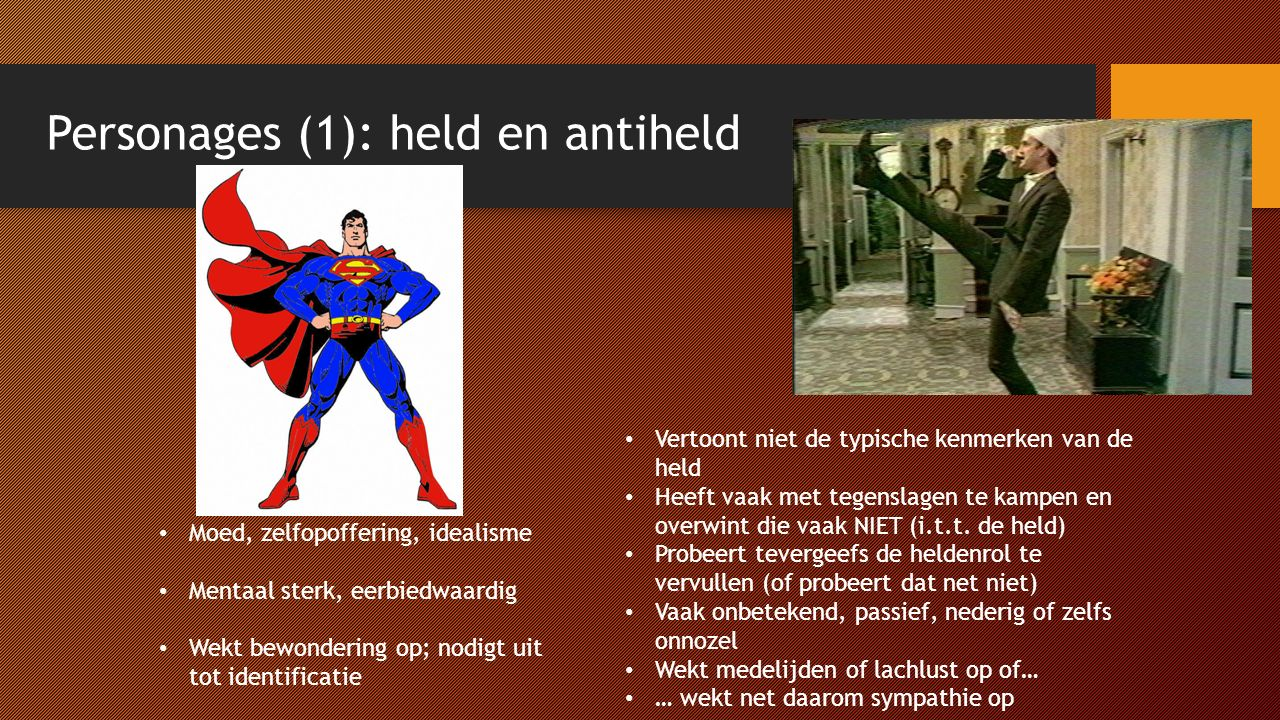 Personages (1): held en antiheld