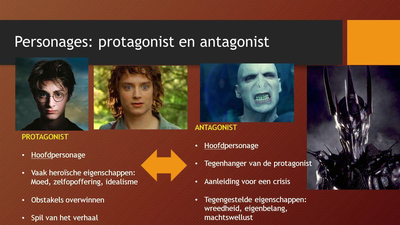 Personages: protagonist en antagonist