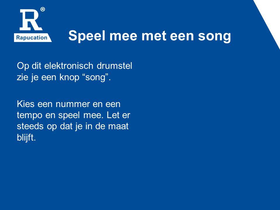 Speel mee met een song