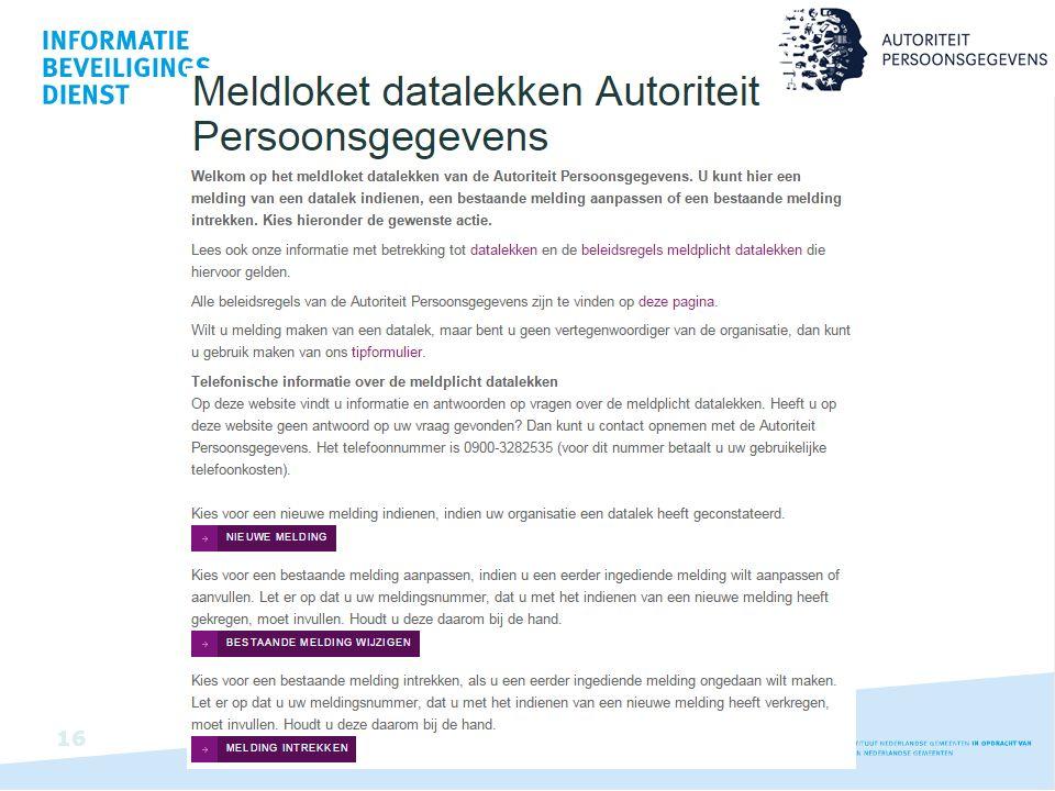 Meldloket datalekken van de Autoriteit persoonsgegevens