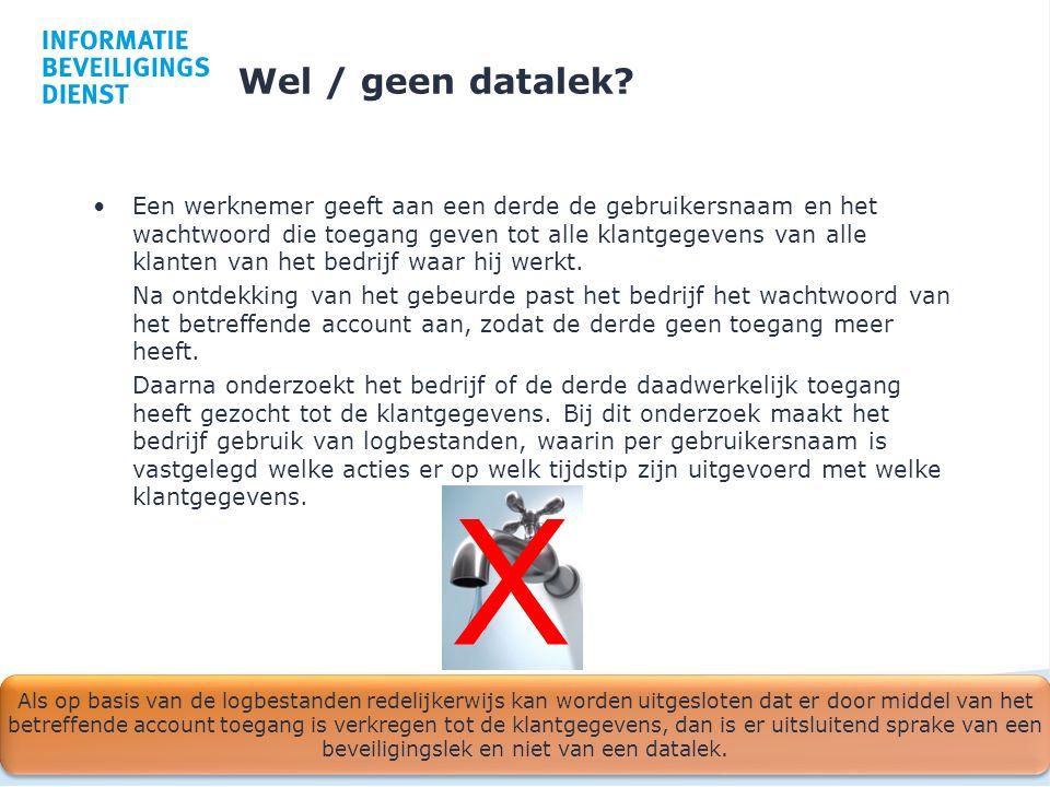 Wel / geen datalek
