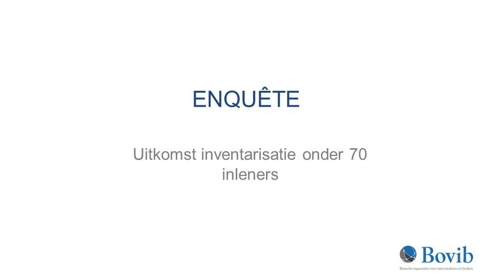 Uitkomst inventarisatie onder 70 inleners
