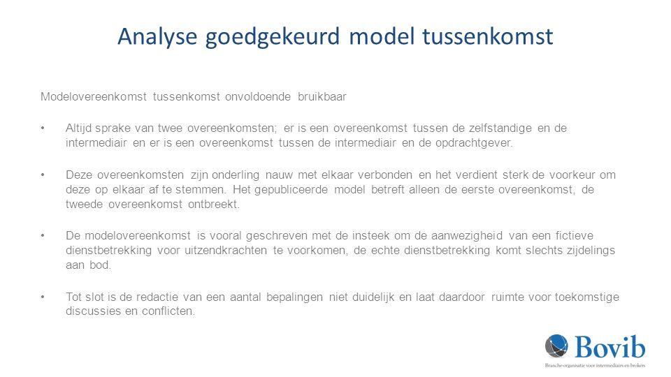 Analyse goedgekeurd model tussenkomst