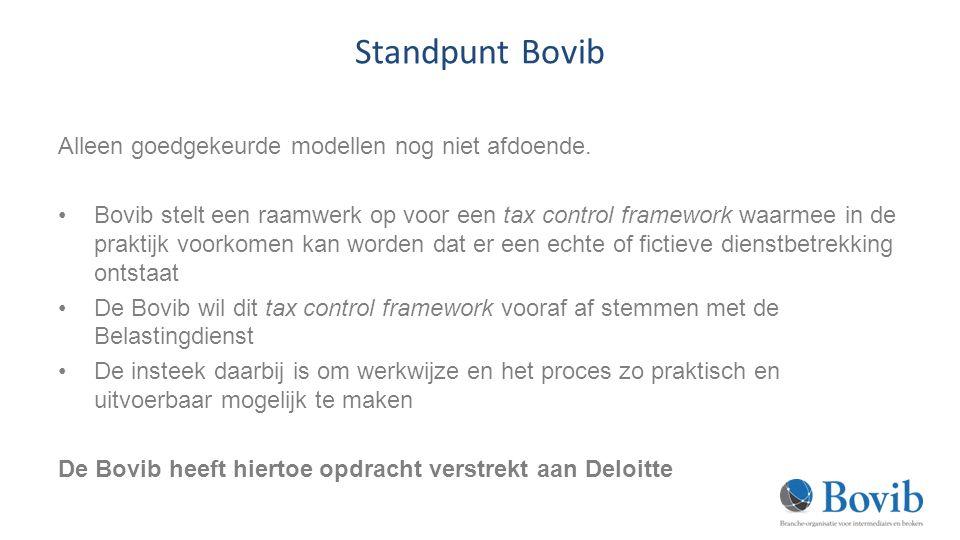 Standpunt Bovib Alleen goedgekeurde modellen nog niet afdoende.