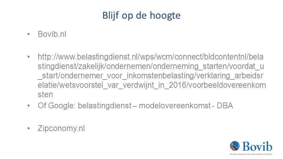 Blijf op de hoogte Bovib.nl