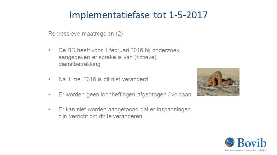 Implementatiefase tot 1-5-2017