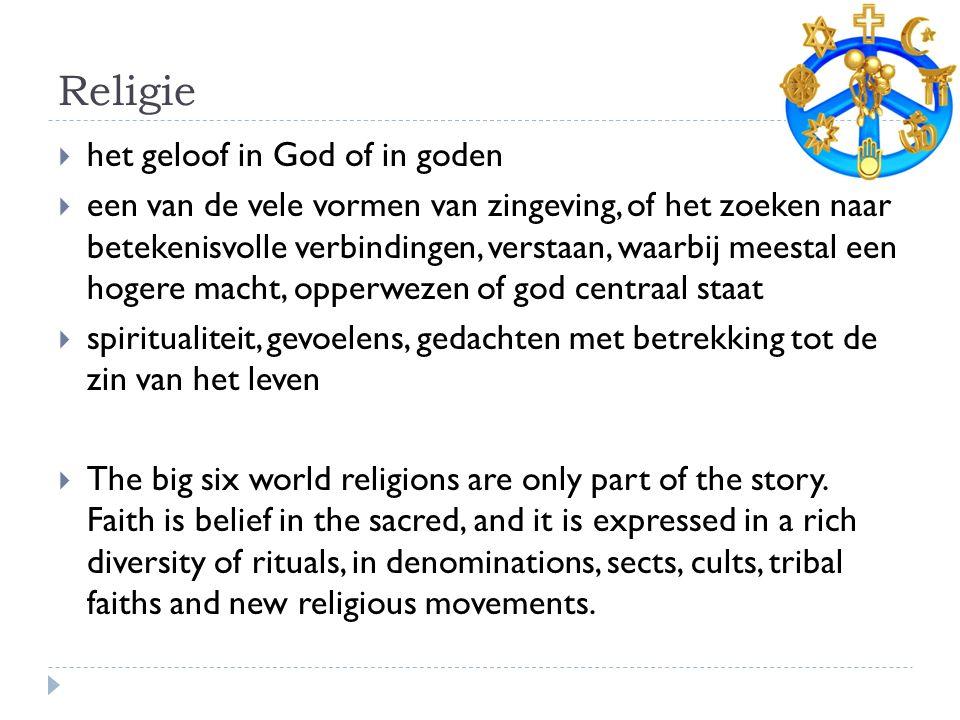 Religie het geloof in God of in goden