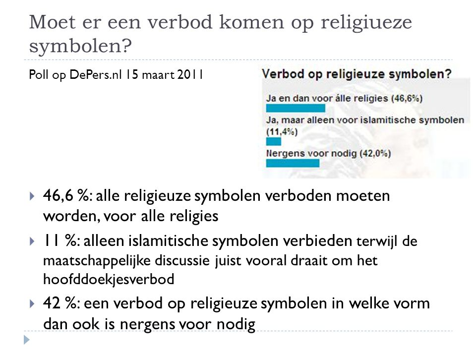 Moet er een verbod komen op religiueze symbolen