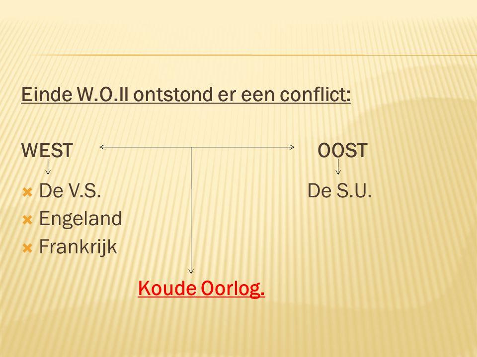 Einde W.O.II ontstond er een conflict: