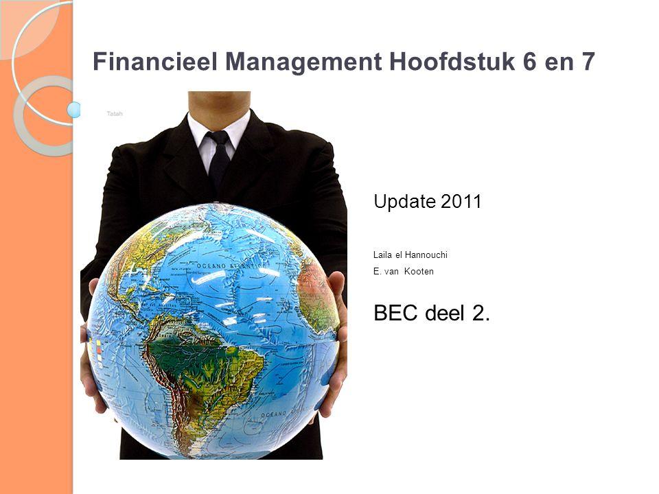 Financieel Management Hoofdstuk 6 en 7
