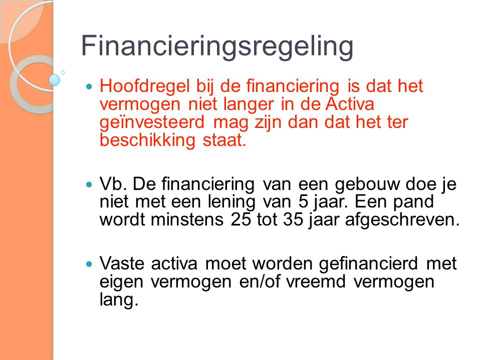 Financieringsregeling
