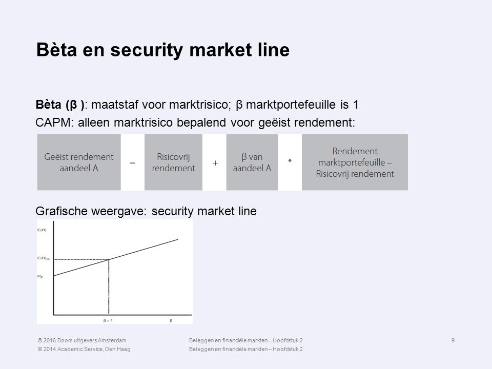 Bèta en security market line