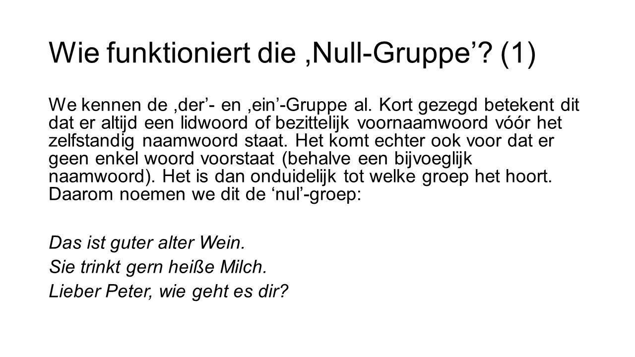 Wie funktioniert die ,Null-Gruppe' (1)