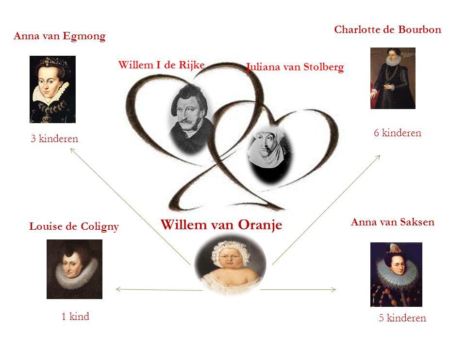 Stamboom Willem van Oranje Charlotte de Bourbon Anna van Egmong