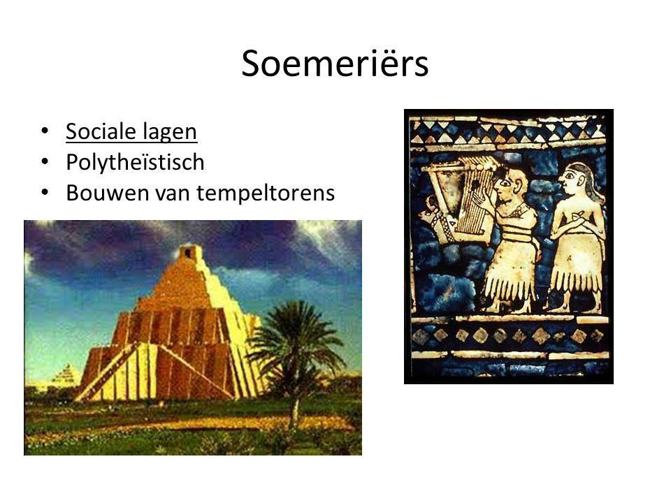 Soemeriërs Sociale lagen Polytheïstisch Bouwen van tempeltorens