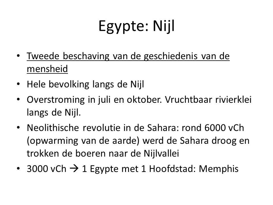 Egypte: Nijl Tweede beschaving van de geschiedenis van de mensheid