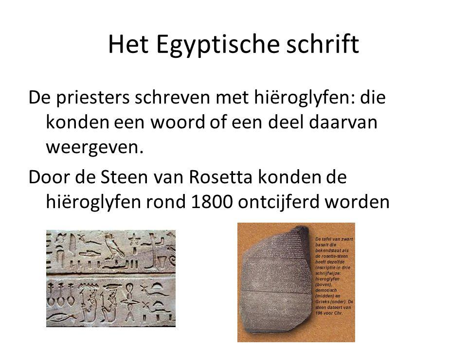 Het Egyptische schrift